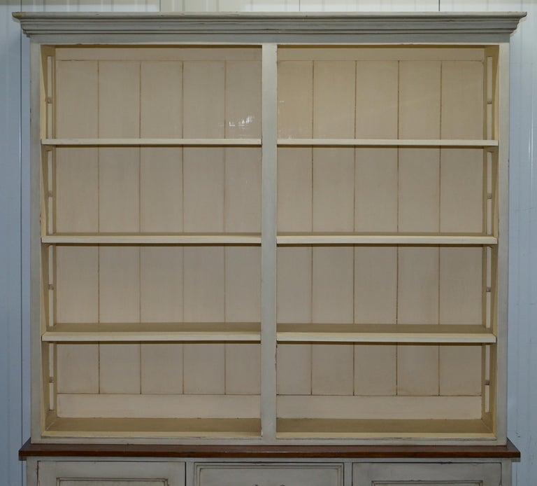 Hand-Carved Very Large Shaker Kitchen Haberdashery Cupboard Dresser Bookcase Paneled Oak For Sale