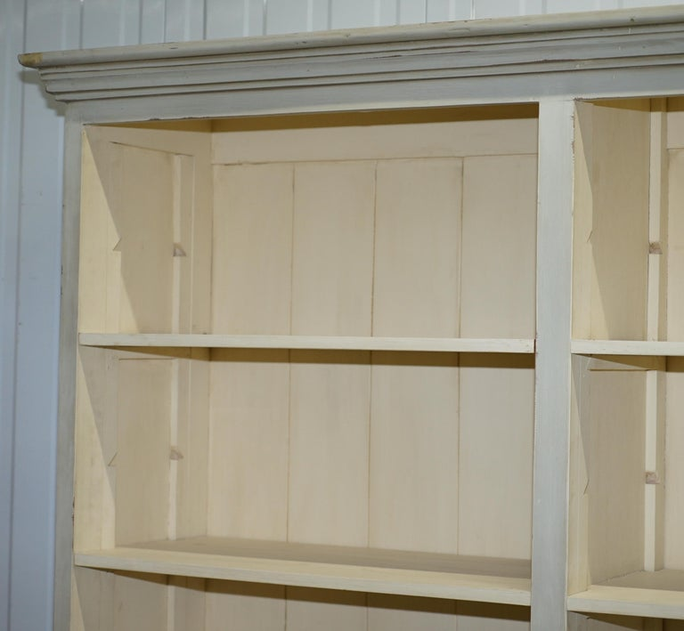 Very Large Shaker Kitchen Haberdashery Cupboard Dresser Bookcase Paneled Oak In Good Condition For Sale In London, GB