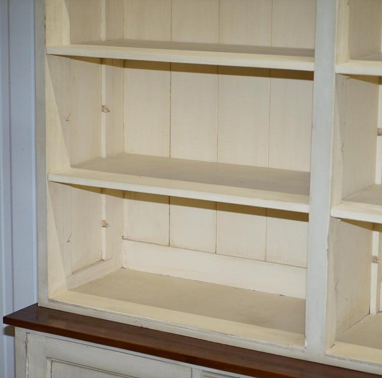 20th Century Very Large Shaker Kitchen Haberdashery Cupboard Dresser Bookcase Paneled Oak For Sale
