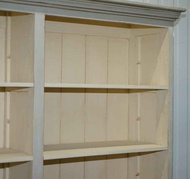 Very Large Shaker Kitchen Haberdashery Cupboard Dresser Bookcase Paneled Oak For Sale 1