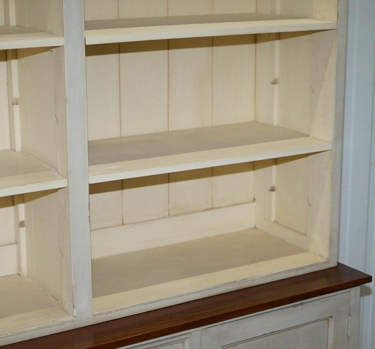 Very Large Shaker Kitchen Haberdashery Cupboard Dresser Bookcase Paneled Oak For Sale 2