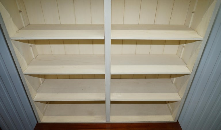 Very Large Shaker Kitchen Haberdashery Cupboard Dresser Bookcase Paneled Oak For Sale 3