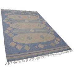 Very Large Swedish Flat-Weave Kelim Rölakan Carpet by Anna Johanna Ångström