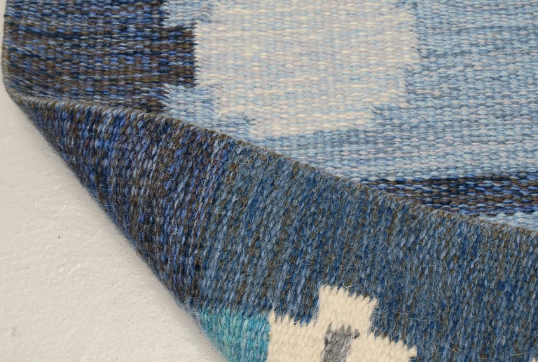 Hand-Woven Very Large Swedish Flat-Weave Rölakan Carpet by Ingegerd Silow For Sale
