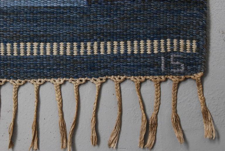 20th Century Very Large Swedish Flat-Weave Rölakan Carpet by Ingegerd Silow For Sale