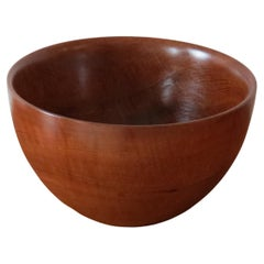 Very Large Teak Midcentury Wooden Bowl by Galatix England, 1970s