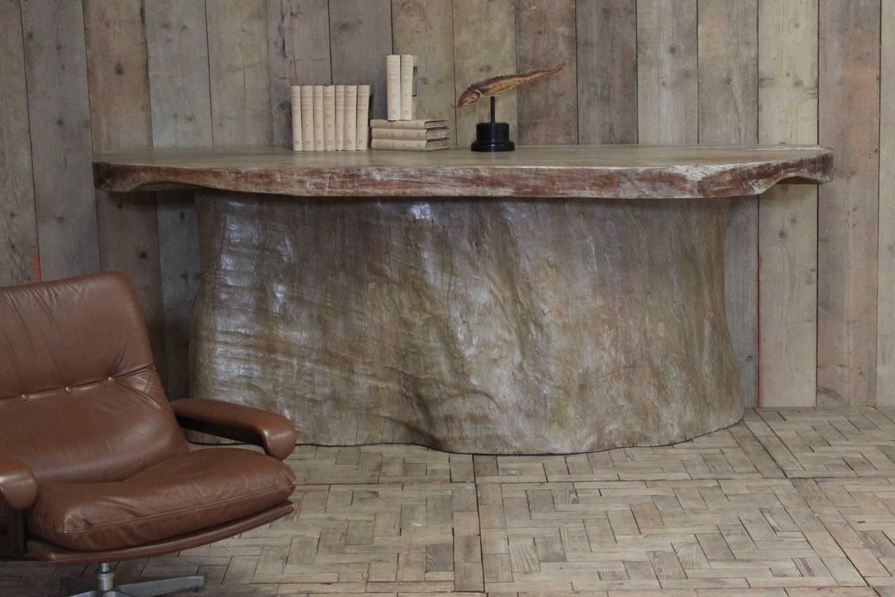 Ordinaire Very Large Tree Trunk Console Table Or Bar For Sale At 1stdibs