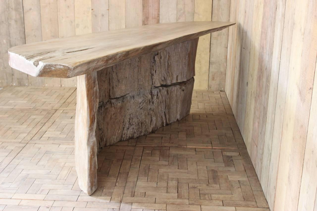 Very Large Tree Trunk Console Table Or Bar For Sale 1