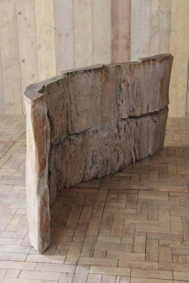 Very Large Tree Trunk Console Table Or Bar For Sale At Stdibs - Tree trunk console table