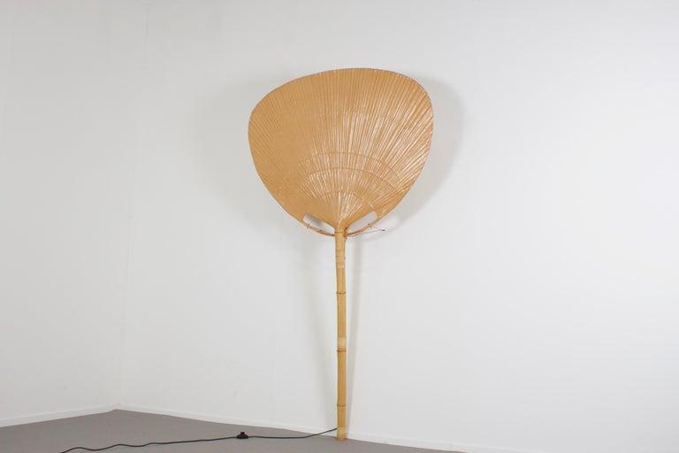 Japonisme Very Large 'Uchiwa' Floor Lamp by Ingo Maurer for M Design, 1977 For Sale