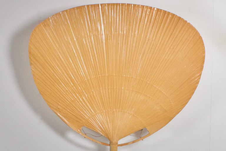 20th Century Very Large 'Uchiwa' Floor Lamp by Ingo Maurer for M Design, 1977 For Sale
