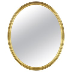 Very Large Victorian Oval Gold Mirror
