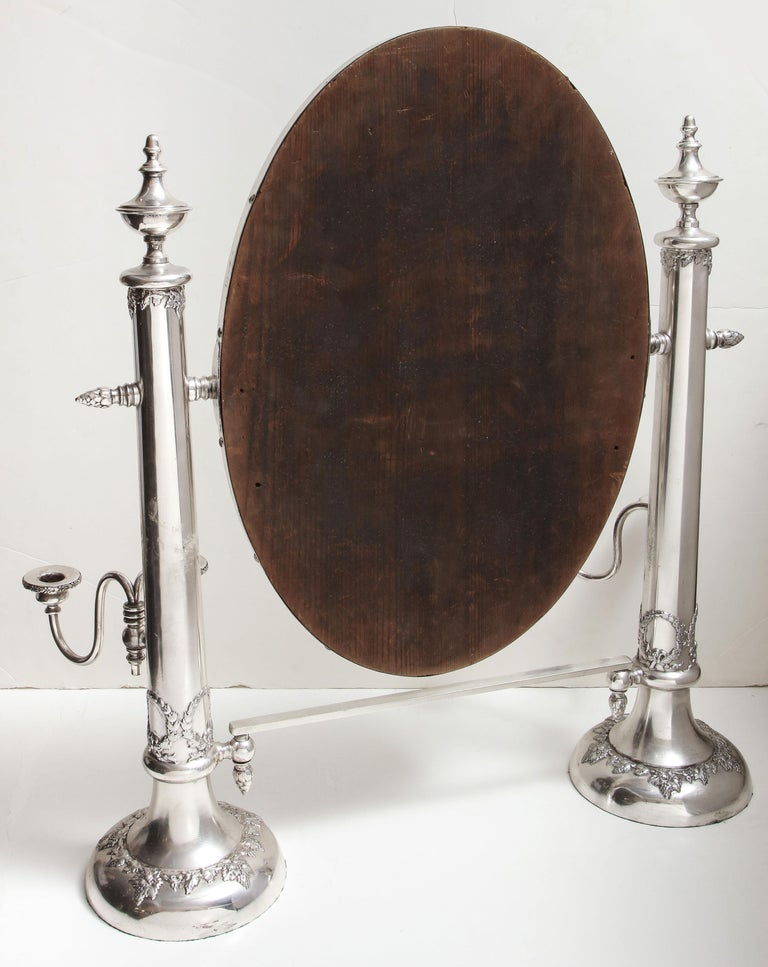 Very Large Victorian Sheffield Silver Plated Table Mirror For Sale 11