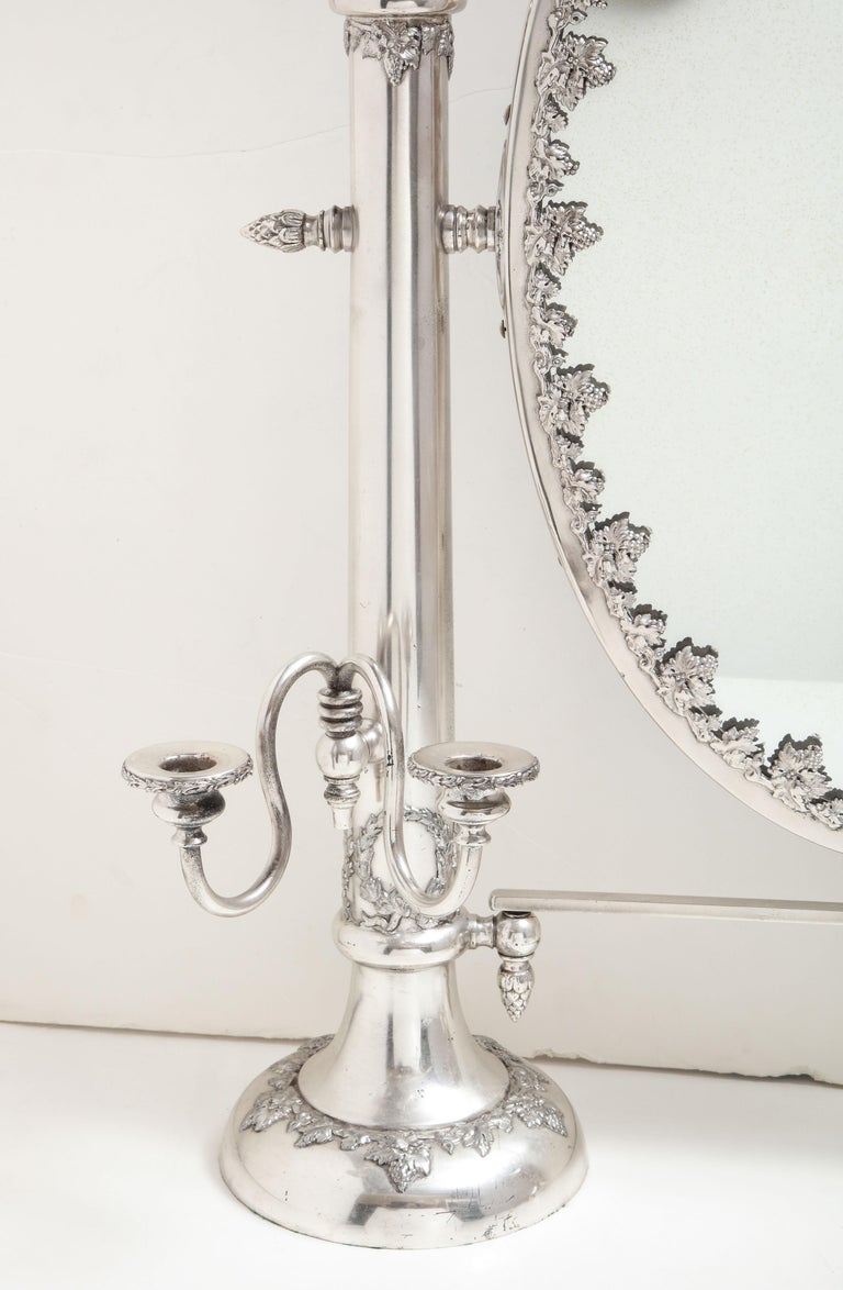 Very Large Victorian Sheffield Silver Plated Table Mirror For Sale 1