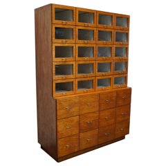 Very Large Vintage Dutch Oak Haberdashery Shop Cabinet, 1950s
