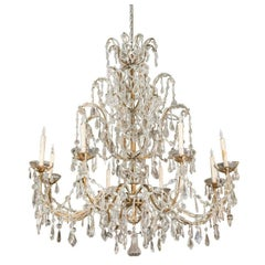 Very Large 19th Century Crystal Chandelier