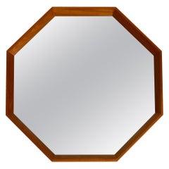 Very Nice 1960s Octagonal Teak Wall Mirror