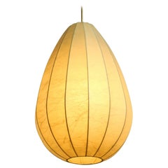 Very Nice 1960s Vintage Cocoon Pendant Lamp in Rare Design