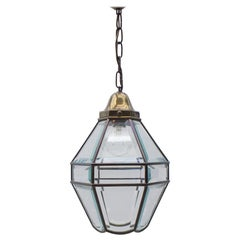 Very Nice Adolf Loos Lobmeyr Style Light Beveled Glass Patinated Brass, Austria