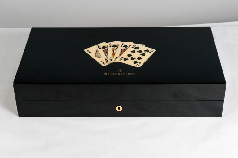 Ultra rare game box who is usually sold with two watches in the honour of Las Vegas strip This box was sold with original Audemars Piguet tokens and cards who have been lost . The original price with the two watches was $91000 and come from an
