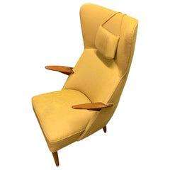 Danish lounge chair in the manner of Hans Wegner