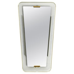 Very Nice Trapezoidal Mid-Century Modern Perforated Metal Wall Mirror