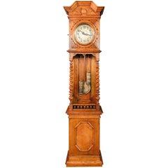 Very Nice Wilhelminian Style Grandfather Clock Open, circa 1860