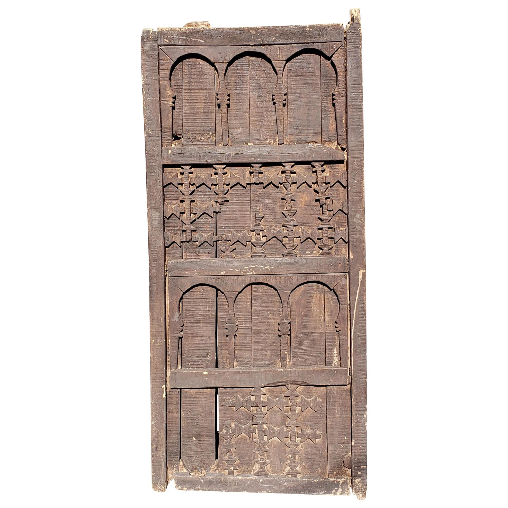 Very Old Moroccan Wooden Door, Single Panel