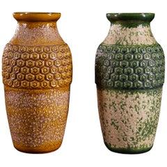 Very Original Pair of West-German Ceramic Vases by Bay