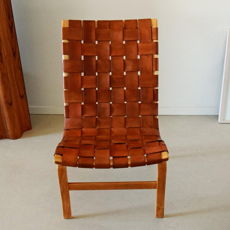 Scandinavian Modern Very Orly Production, Eva Chair, Designed by Bruno Mathsson for Karl Mathsson For Sale