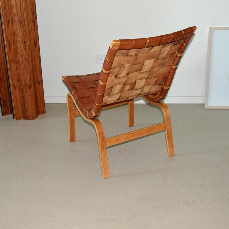 Swedish Very Orly Production, Eva Chair, Designed by Bruno Mathsson for Karl Mathsson For Sale
