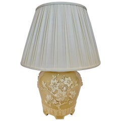 Very Pretty Large Chinoiserie Ceramic Table Lamp with Custom Shade