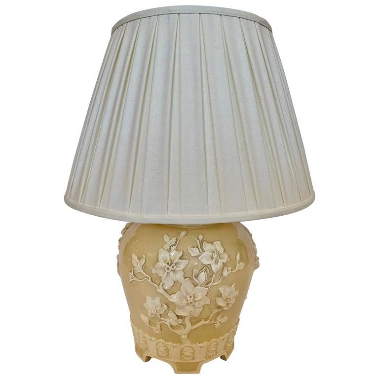 Very Pretty Large Chinoiserie Ceramic, Custom Ceramic Table Lamps