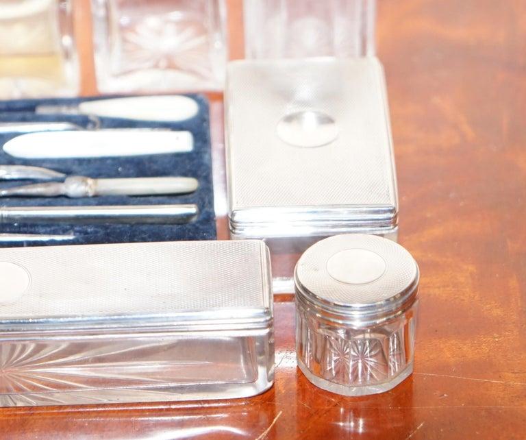 Very Rare 1867 Asprey & Co. Coromandel Dressing Table Box Sterling Silver Pearl For Sale 5