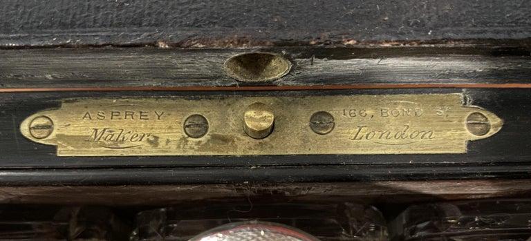 Very Rare 1867 Asprey & Co. Coromandel Dressing Table Box Sterling Silver Pearl For Sale 10