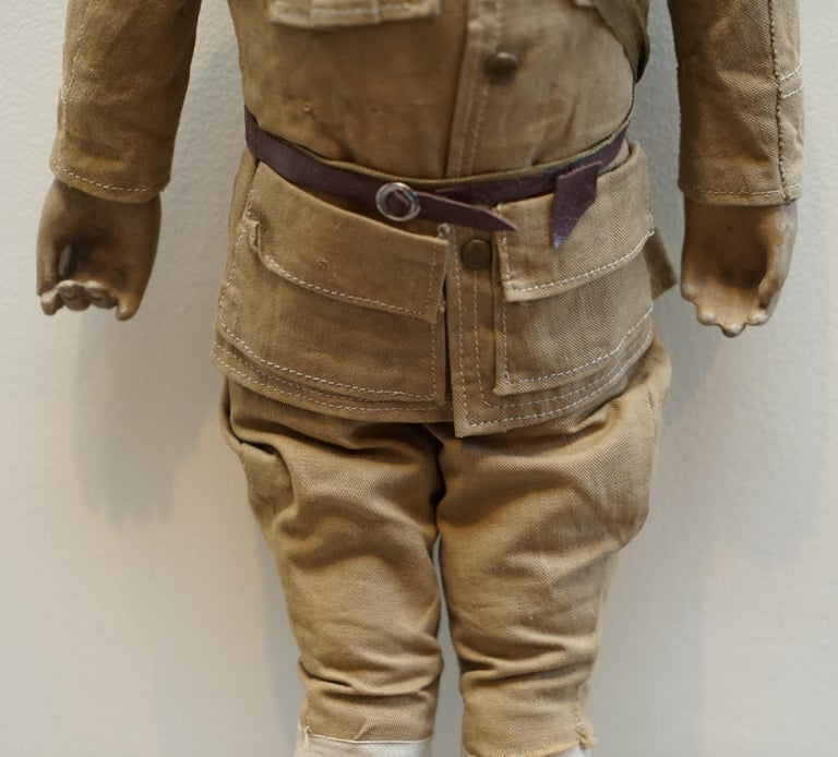 Hand-Crafted Very Rare 1898-1914 British Patriotic Propaganda Doll of Lord Horatio Kitchener For Sale