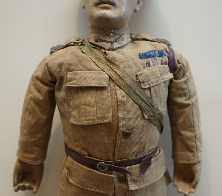Very Rare 1898-1914 British Patriotic Propaganda Doll of Lord Horatio Kitchener In Fair Condition For Sale In London, GB