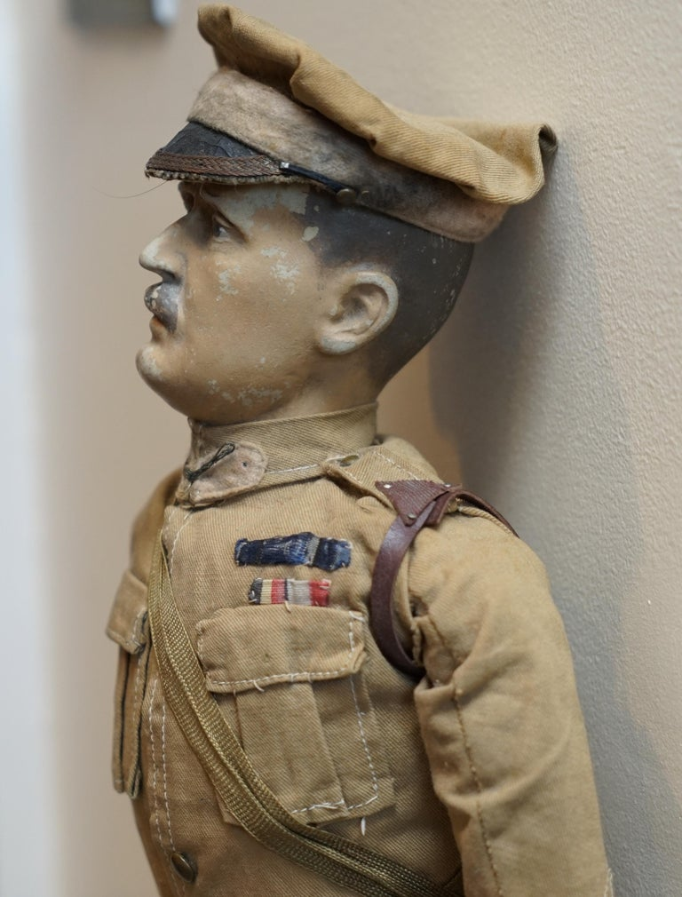 Fabric Very Rare 1898-1914 British Patriotic Propaganda Doll of Lord Horatio Kitchener For Sale
