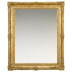 Very Rare 18th Century Carved French Louis XV Frame, with Choice of Mirror
