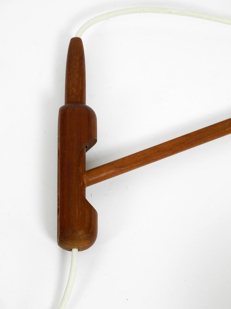 Very Rare 1960s Swiveling Rotaflex Wall Lamp with Teak Frame For Sale 1