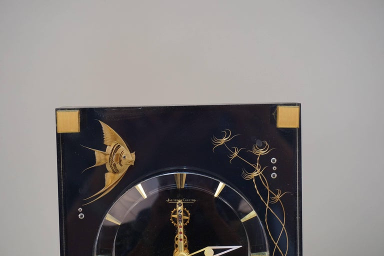 Swiss Very Rare 1970s Jaeger-LeCoultre Marina 8 Days Mantel Clock For Sale