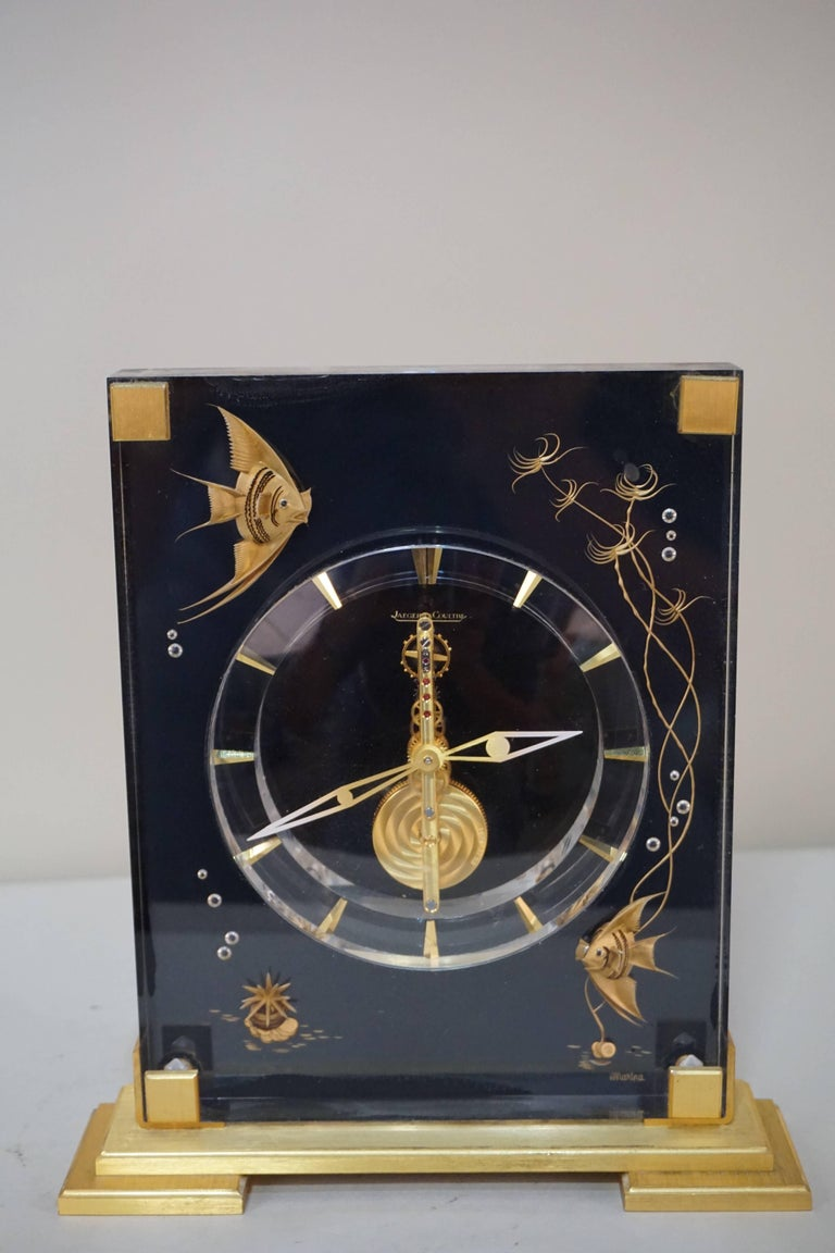 Very Rare 1970s Jaeger-LeCoultre Marina 8 Days Mantel Clock For Sale 1