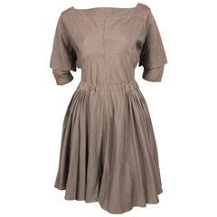 very rare 1980's AZZEDINE ALAIA taupe raw silk dress