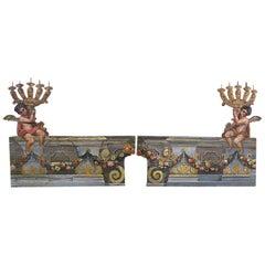Very Rare 19th Century Italian Trompe L'oeil Panels