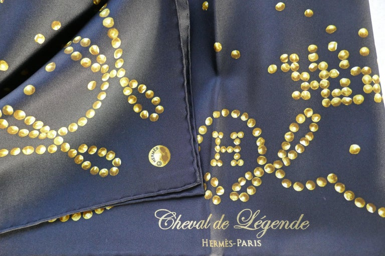 """Very Rare 2010 Hermes Silk Scarf """" Cheval de Legende"""" by  Benoit Pierre Emery In New Condition For Sale In Chillerton, Isle of Wight"""