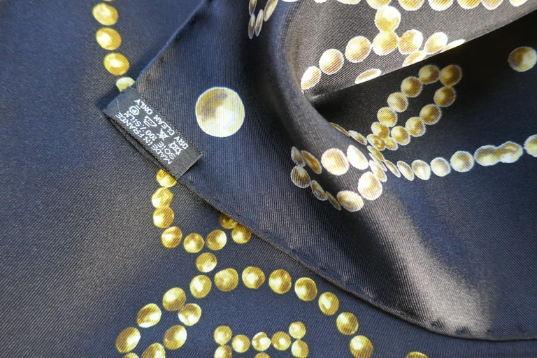 "Very Rare 2010 Hermes Silk Scarf "" Cheval de Legende"" by  Benoit Pierre Emery For Sale 5"