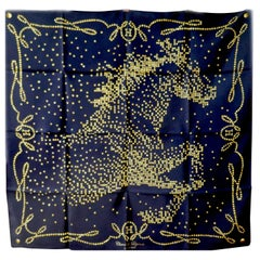 "Very Rare 2010 Hermes Silk Scarf "" Cheval de Legende"" by Benoit Pierre Emery"