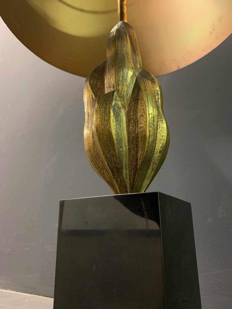 Hollywood Regency Very Rare Abstract Art Maison Charles Lamp / Signed For Sale