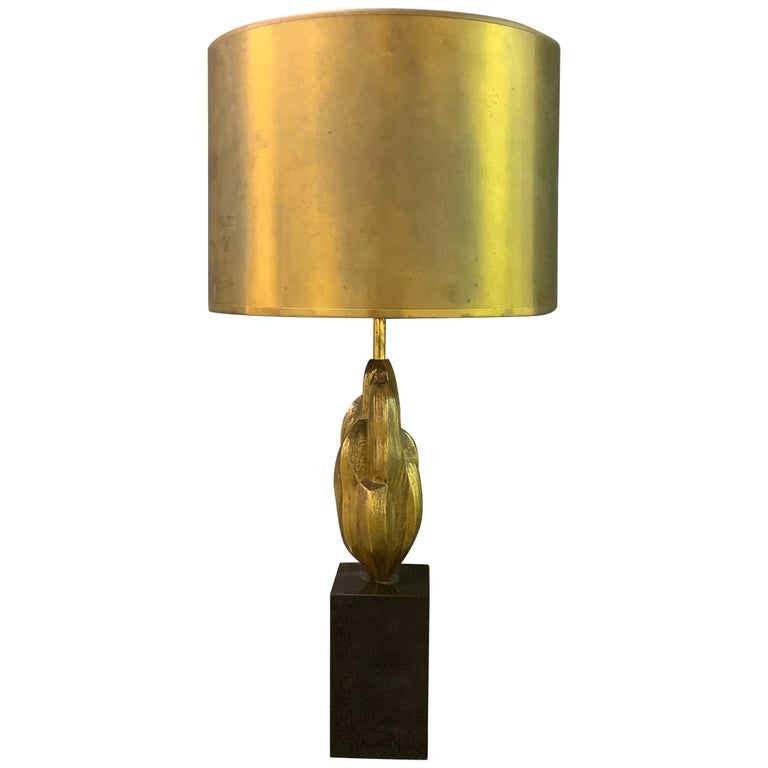 Very Rare Abstract Art Maison Charles Lamp / Signed For Sale