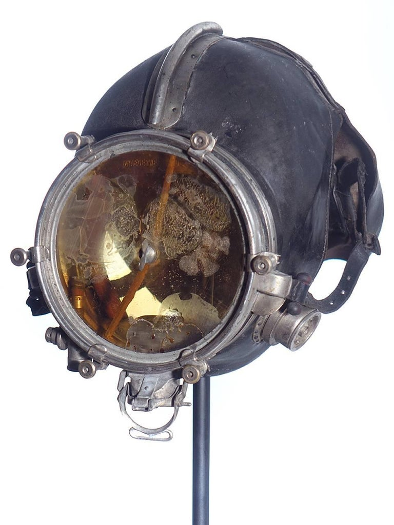 Industrial Very Rare and Important 1910 Drager Smoke Mask For Sale